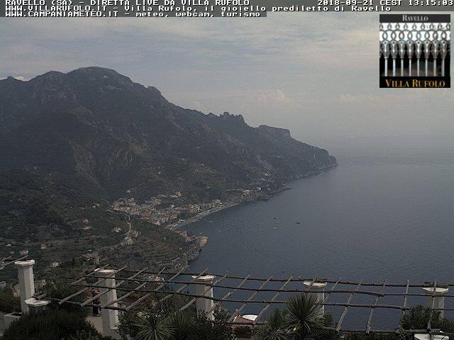 Ravello webcam - Villa Rufolo webcam, Campania, Salerno