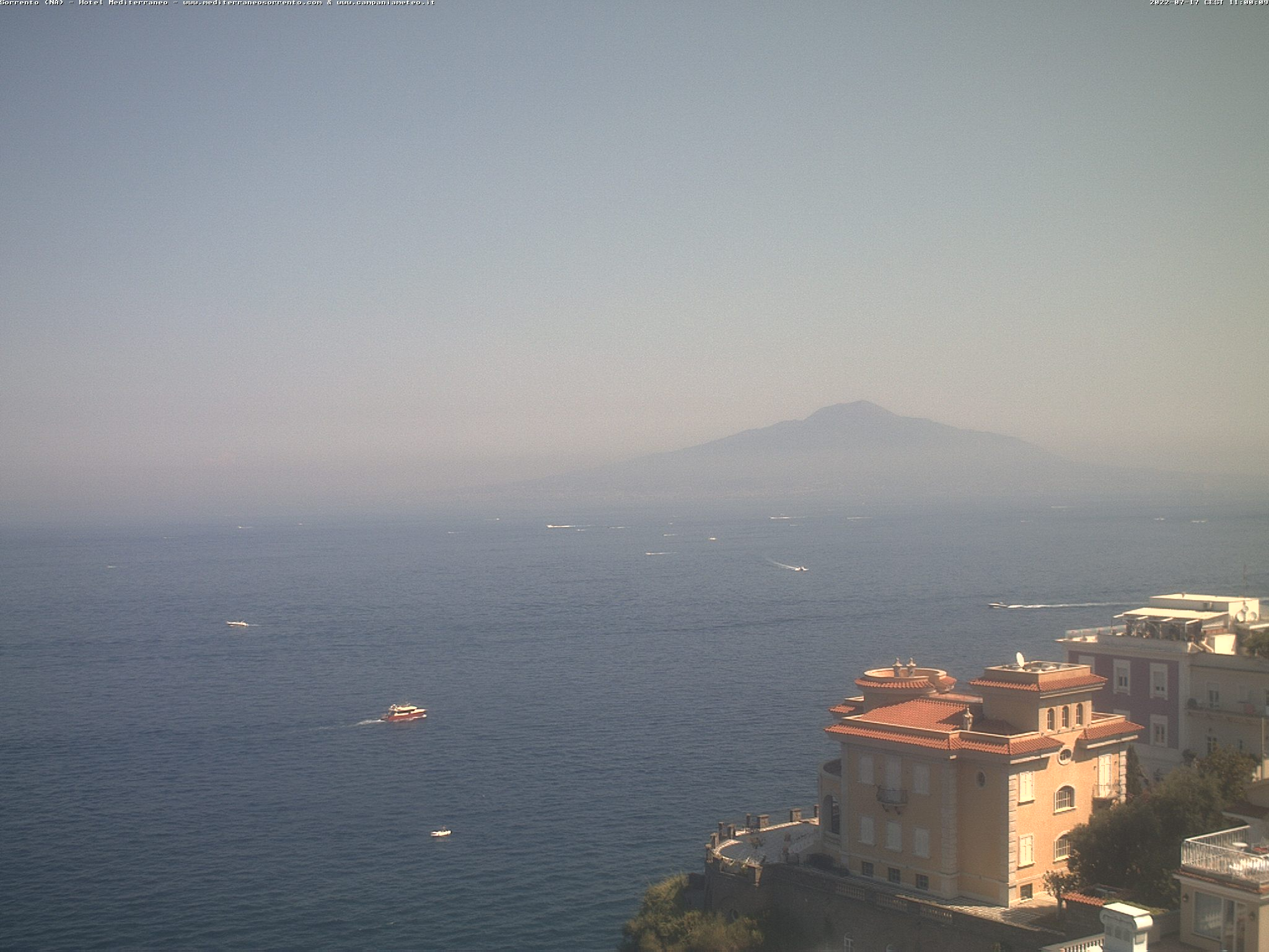 Sorrento - Vista sul Golfo e sul Vesuvio